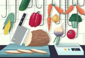 """Etal d'une """"boucherie végane"""""""