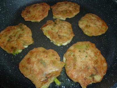 Pancakes de poireaux cuisson2