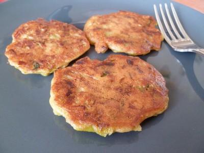 Pancakes de poireaux