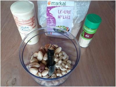 Parmesan végétal ingrédients