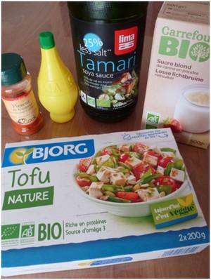 Chou chinois au tofu et au sésame ingrédients 2