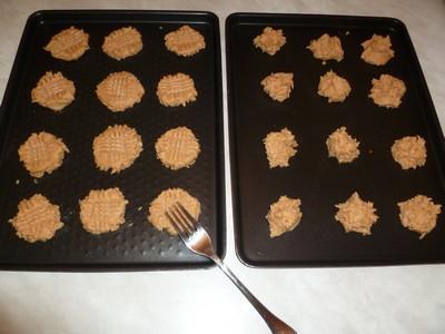 Cookies au beurre de cacahuète avant cuisson