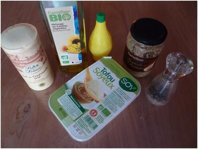 Ingrédients de la mayonnaise végétale