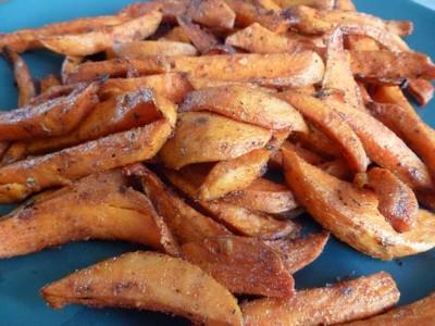Frites de patates douces aux épices