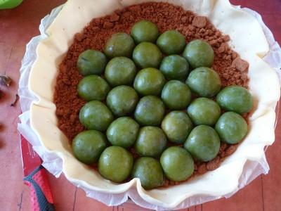 Tarte feuilletée aux prunes et aux spéculoos