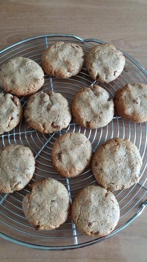 Cookies aux figues et à la noisette cuits