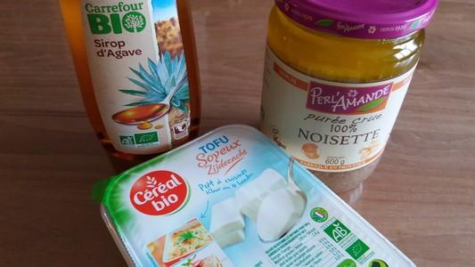 Crème à la noisette ingrédients