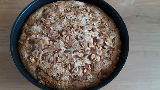 Gâteau poires amandes cuit