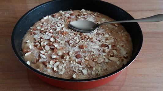 Gâteau poires amandes avant cuisson
