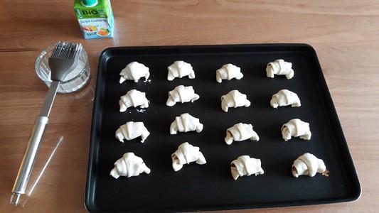 Mini croissants avant cuisson