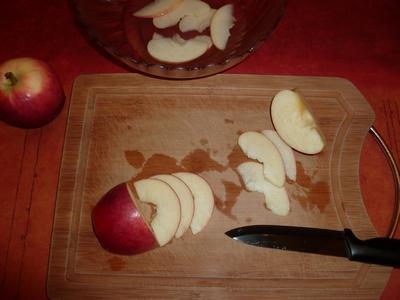 Découpage des pommes