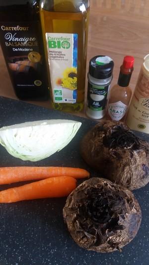 Salade tiède à la betterave ingrédients