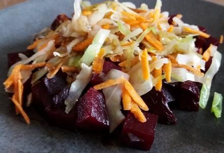 Salade tiède à la betterave