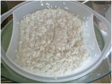 Riz dans cuit-vapeur