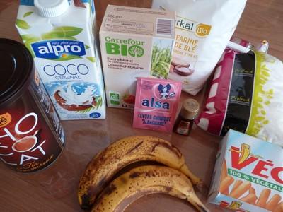 Cake banane coco chocolat ingrédients