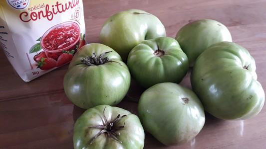 Confiture de tomates vertes - ingrédients