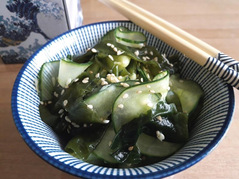 Salade de concombre au wakamé