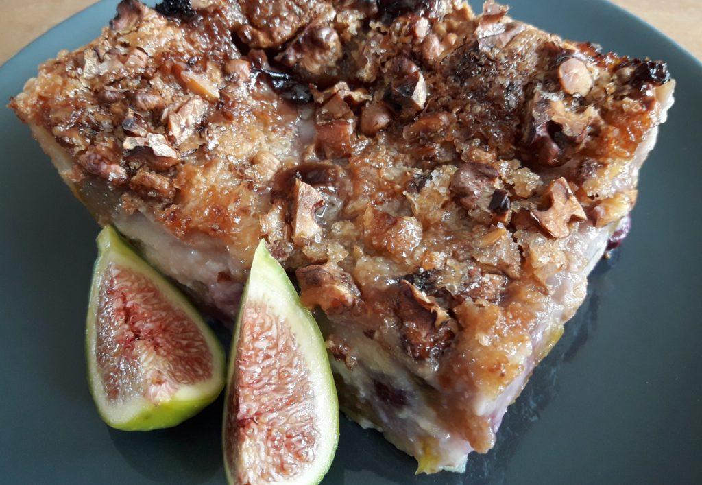Clafoutis aux figues et aux raisins